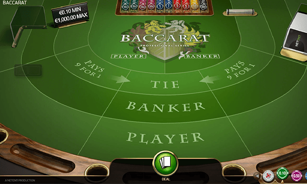 Baccarat Pro Table Betting