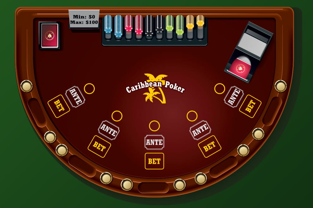 Caribbean Stud Poker Table Layout