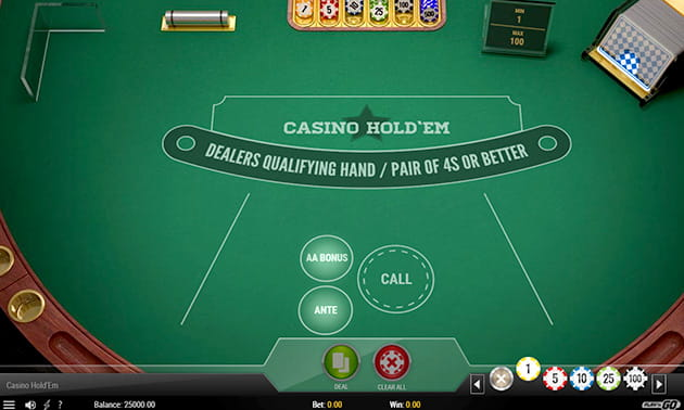 Play Casino Hold'em for Free with Demo Credits