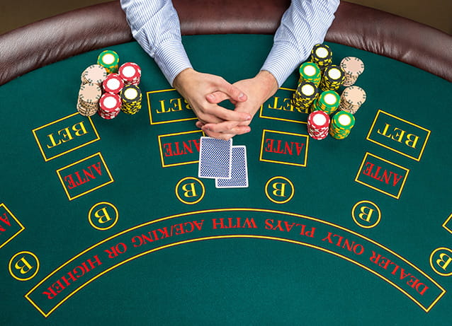 Casino Hold em Table Layout