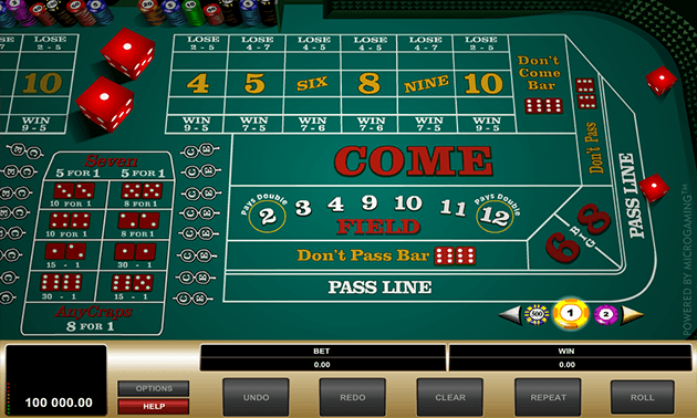 Free Online Craps Demo Game