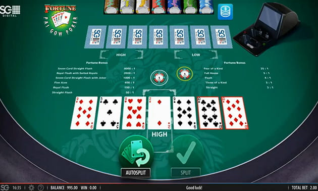 Typical Pai Gow Layout