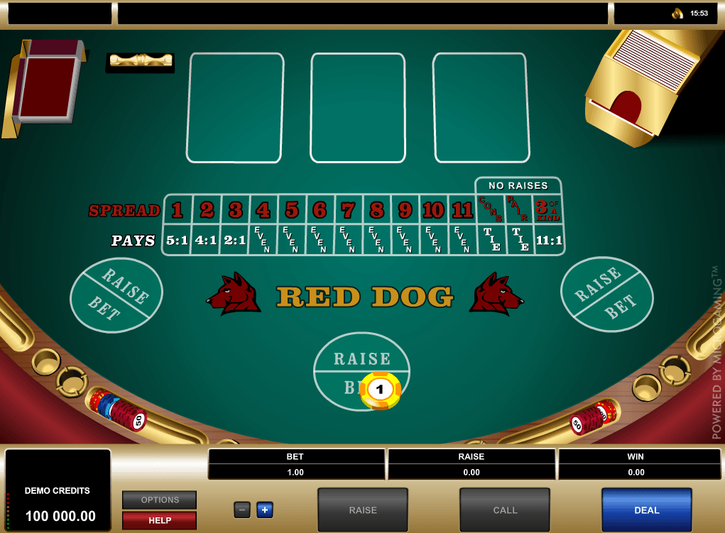 Red Dog Table Layout