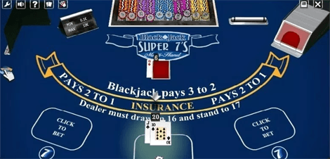 Super 7s Blackjack Side Bet
