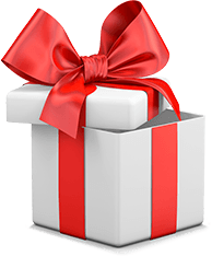 White and Red Gift Box Top Casino Bonus
