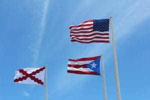 Flags, Puerto Rico, United States