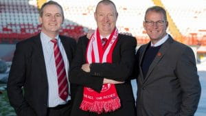 Hamilton's Chairman Allan Maitland together with Director of football, Allan McGonagall.