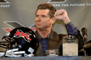Vincent McMahon during a recent press conference on the reintroduction of XFL
