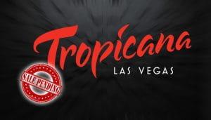 Penjualan Stempel Tertunda di atas Logo Tropicana Las Vegas
